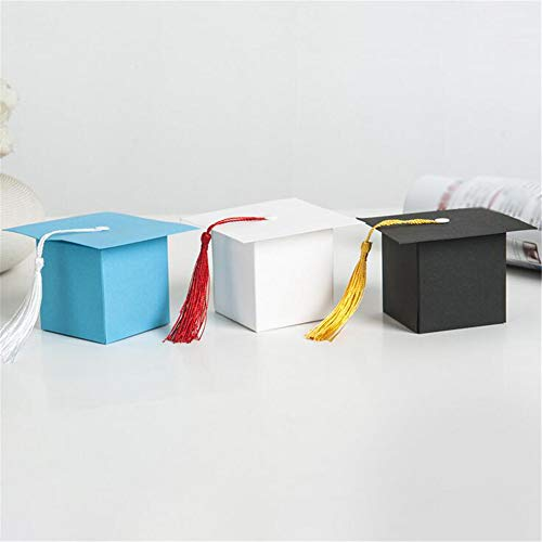 ARAYACY Graduation Party Return Gift Candy Box/European Creative Celebration Bachelor Hat Packaging Box Small Gift Decoration Box (100PCS)