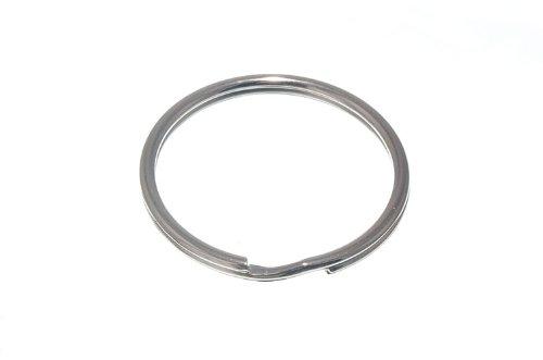 SPLIT KEY RINGS 38MM 1 1/2 INCH NICKEL PLATED STEEL ( pack of 20 ) ONESTOPDIY