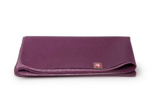 Manduka eKO SuperLite Travel Yoga and Pilates Mat, Acai, 1.5mm, 68″