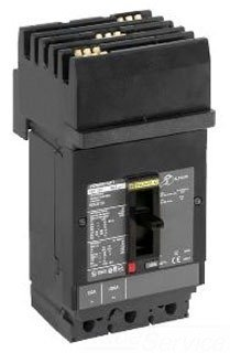 SQUARE D BY SCHNEIDER ELECTRIC HDA36125 MOLDED CASE CIRCUIT BREAKER 600V 125A