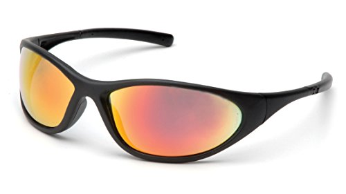 - Pyramex Zone II Black Frame Ice Orange Mirror Safety Glasses One Pair