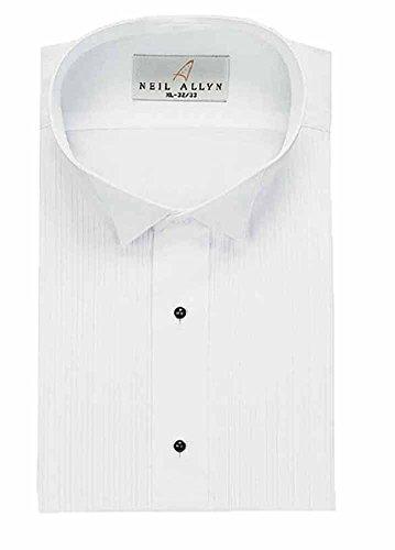 Neil Allyn Men's Tuxedo Shirt Wing Collar 1/8 Inch Pleat