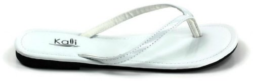 Kali Footwear Womens Twins Basic Patent Flat Thong Sandal White KWGYJiVp