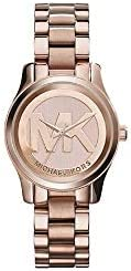 Michael Kors Women s Mini Runway Rose Gold-tone Stainless Steel Bracelet Watch 33mm Mk3334