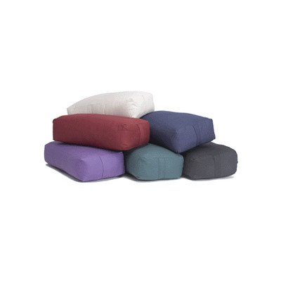 Supportive Rectangular Cotton Bolster Color: Purple by Yoga Direct