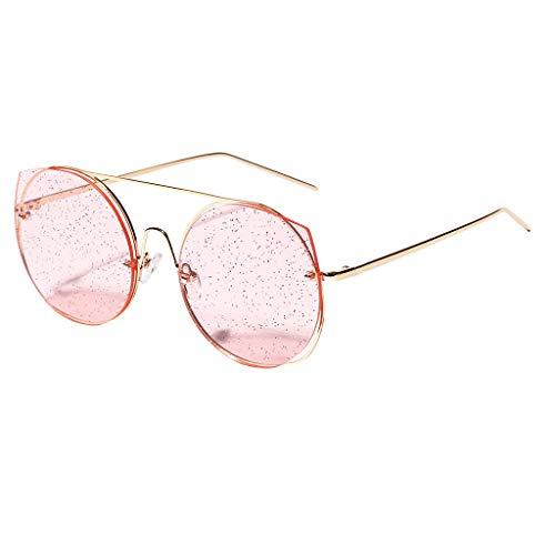 Women Round Frame Sunglasses LODDD Fashion Retro Eyewear Casual ()