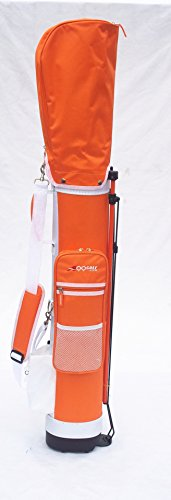 C13 Adult Golf Range Sunday Pencil Carry Bag Removable Top Cover w. Stand (Orange/Wht)++1pc free gift Pink Golf Zerofy Score (Wht Bag)