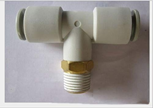 Fevas Tube Size 10mm-1/8 PT Thread Type Pneumatic Male Branch Tee fittting, air ftting KQ2T Series 01s Male Branch Tee