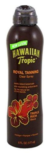 Hawaiian Tropic Royal Tanning Cont Spray Oil 6 Ounce Triple Rich (177ml) (2 Pack)