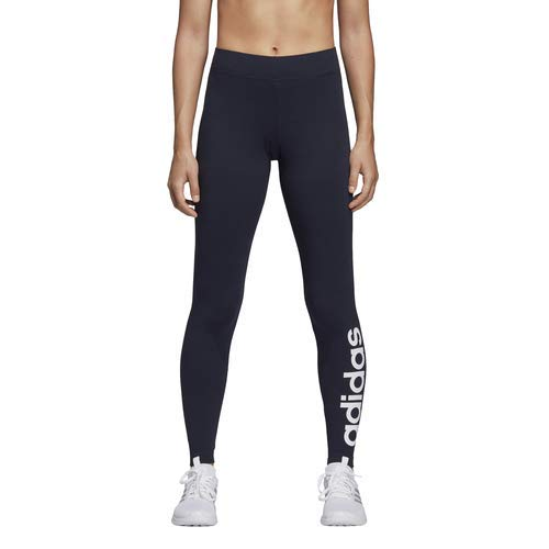 adidas Women's Essentials Linear Tights, Legend Ink/White, Large