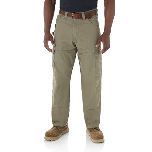 RIGGS WORKWEAR by Wrangler Men's Ranger Pant,Bark,38x32 ()