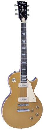 Vintage Guitars V100 Electric Guitar - Gold Top