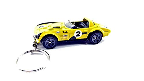 (Diecast Chevy Corvette Key chains FOBs(Corvette Grand Sport Roadster Yellow Keychain))