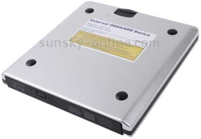 USB 3.0 Aluminum Alloy Portable DVD//CD Rewritable Blu-ray Drive for 12.7mm SATA ODD//HDD Color : Silver Plug and Play