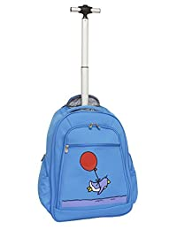 Ed Heck Flying Penguin Wheeled Backpack 20-Inch, Sky Blue, One Size