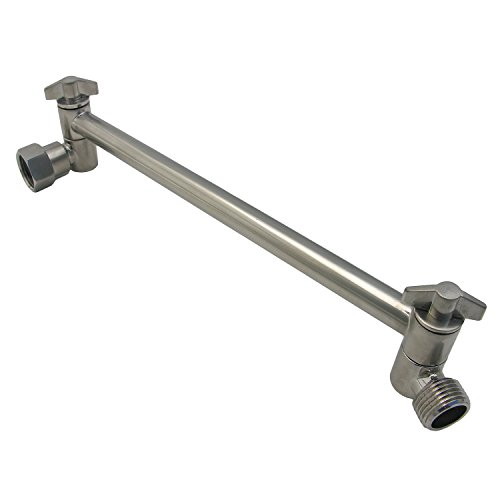 "new Elements of Design DK1538 Parts & Components 10"" High-Low Adjustable Shower Arm, 11"" Length, Satin Nickel"