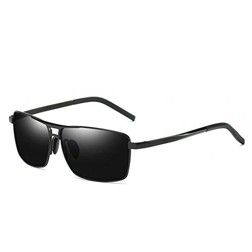 Coolsir Square aleación Gafas polarizadas de Eyewear de gafas la conducción forma marco sol al de libre protección UV400 de 1 de Men en aire rZTq5r