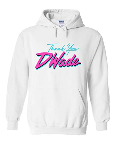 Jersey Wade D (PROSPECT SHIRTS White Miami D Wade Thank You Hooded Sweatshirt Adult)