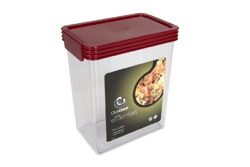 Click Clack Basics Storage Containers, 2.5 Quart Airtight Container, Red Lid ()