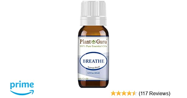 Breathe Essential Oil Blend 10 ml Respiratory Synergy 100% Pure Therapeutic  Grade for Sinus, Allergy,