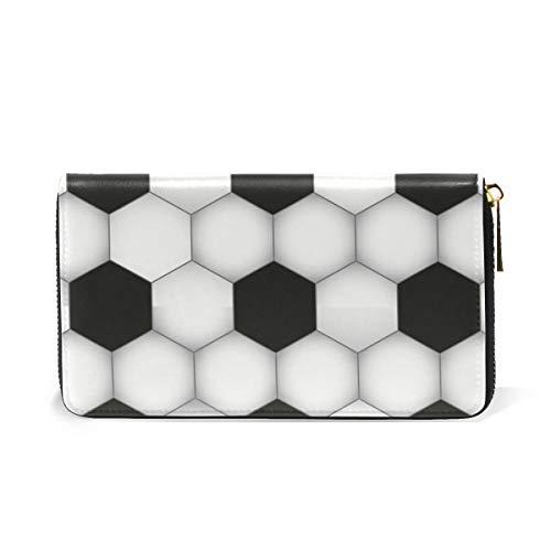 Purses Hexagon Around TIZORAX Organizer Womens Handbags Soccer Zip And Wallet Clutch wgff5Izq