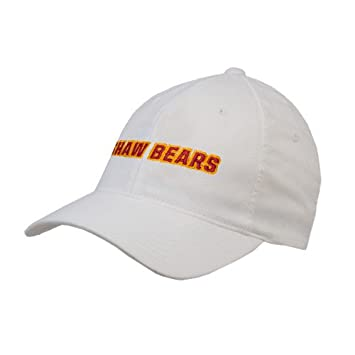 Shaw University White OttoFlex Unstructured Low Profile Hat  Shaw Bears  ... 9506304119d