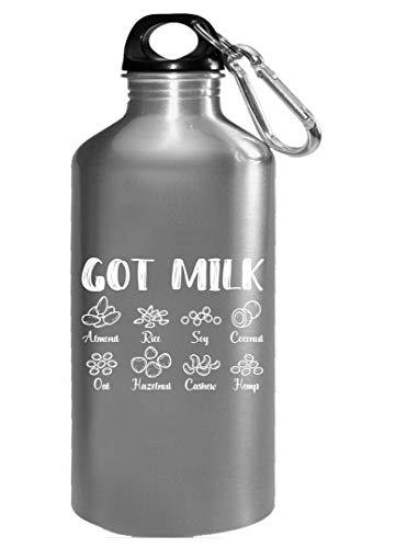 Got Milk - Funny Nut Milk Almond Milk - Cute Vegetarian Design - Water Bottle