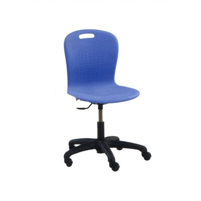 Sage Series Task Chair Frame Color: Char Black, Seat Color: Blueberry, Flame Retardant Additive: Not Included