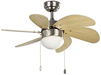 PALAO FARO 33183 - Ventilador de techo con luz 6 palas de madera ...
