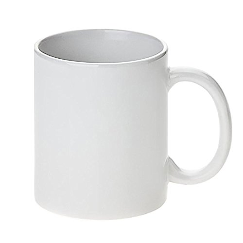 White Ceramic Sublimation Coffee Mug - 11oz