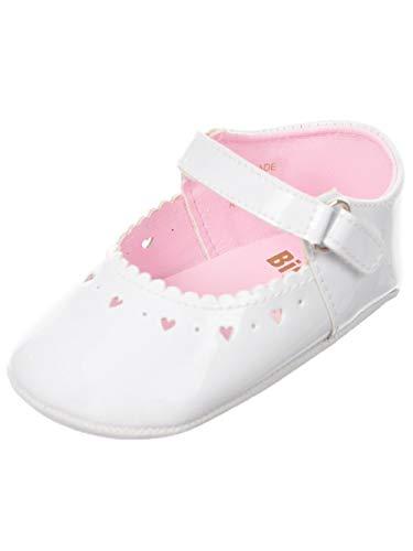 Big Oshi Baby Girls' Mary Jane Booties - White, 0 Infant