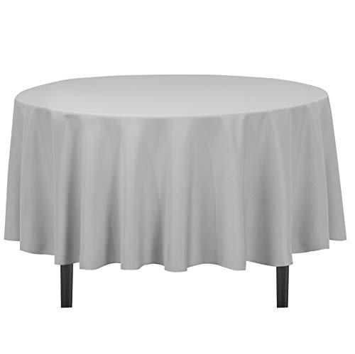 LinenTablecloth 90-Inch Round Polyester Tablecloth ()