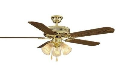 hampton bay landmark plus 52 inch ceiling fan for large room medium oak and rosewood reversible