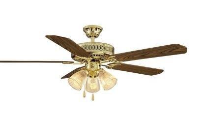 hampton bay landmark plus 52 inch ceiling fan for large room medium oak and rosewood reversible - Hampton Bay Ceiling Fans