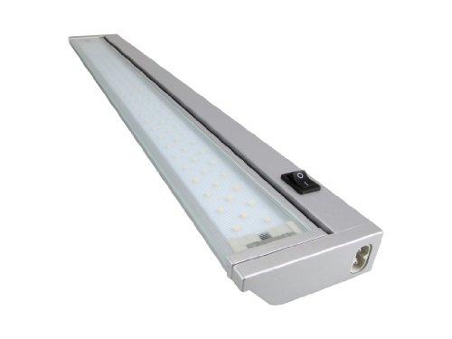 Warmweiss LED / SMD Schwenkbare 5,4W - 9,0W Aluminium Unterbauleuchte mit Euro-Stecker! Schutzscheibe aus Glas! VARIANTEN- 575mm Länge -Anbauleuchte Anbaulampe Aufbauleuchte Aufbaulampe Lichtleiste Vitrinenleuchte Vitrinenlampe Werkstattleuchte Werkstattlampe Arbeitsleuchte Arbeitslampe Küchenleuchte Küchenlampe Unterbaustrahler Deckenlampe Deckenleuchte