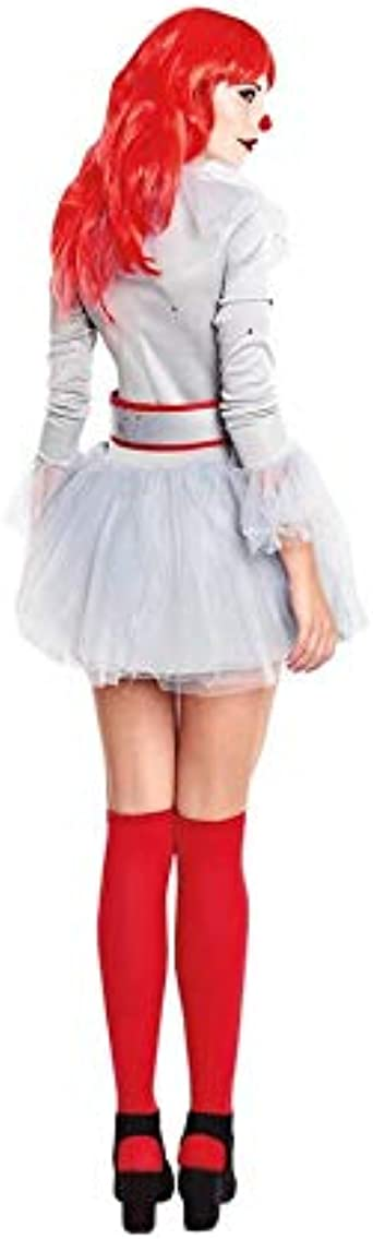 Disfraz de Payasa Sádica para Mujer con Vestido Gris Inspirado ...