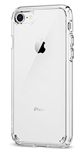 : Spigen Ultra Hybrid [2nd Generation] iPhone 7 Case / iPhone 8 Case with Air Cushion Technology for Apple iPhone 7 (2016) / iPhone 8 (2017) - Crystal Clear