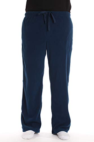 #followme Polar Fleece Pajama Pants for Men Sleepwear PJs 45902-NVY-L - Solid Sleep Mens Pant