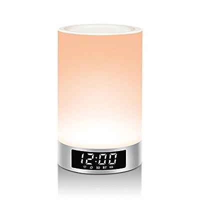 LIGHTSTORY L5 Wireless Bluetooth Speaker, Portable Touch Sensitive Night Light, RGB Color Changing LED Desk Lamp, Hands-free Speakerphone