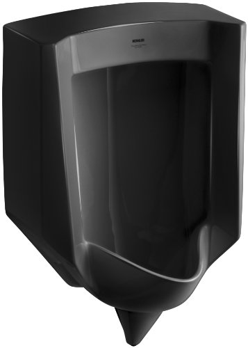 Kohler K-4972-ER-7 Stanwell Lite Urinal with Rear Spud, Black (Black Wall Mount Urinal)