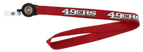- aminco NFL San Francisco 49ers Badge Reel Lanyard