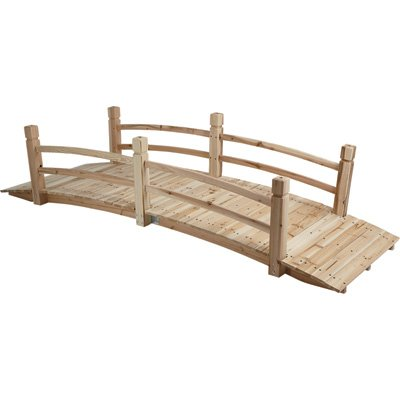 (7Ft. Fir Wood Garden Bridge - 84in.L)