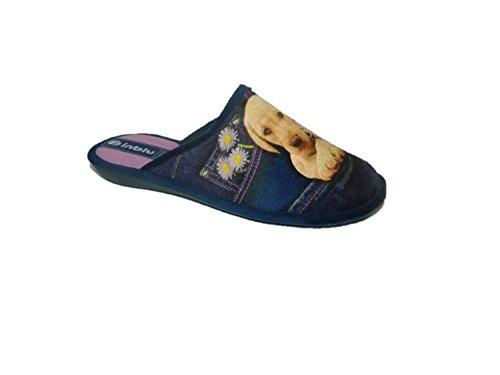 INBLU - Zapatillas de estar por casa para mujer azul turquesa 39 azul Size: 39 CCgDxs5LC5