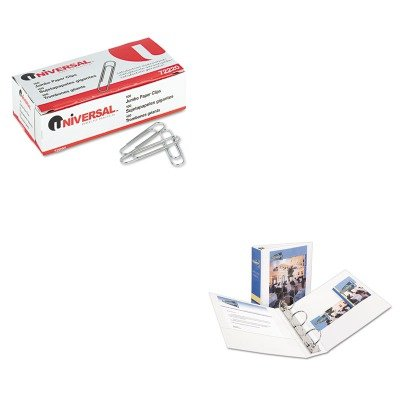 KITAVE05741UNV72220 - Value Kit - Avery Economy View Binder with Round Rings (AVE05741) and Universal Smooth Paper Clips (UNV72220)