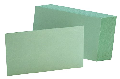 Oxford Blank Color Index Cards, 4