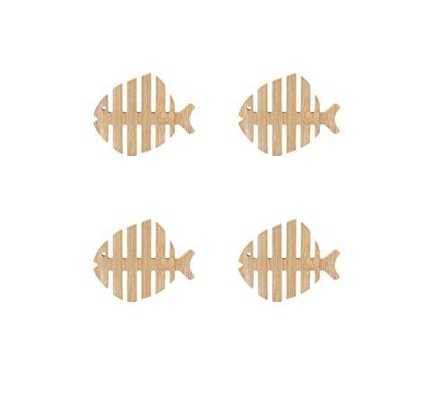 Kikkerland GC17 Fish Coasters, - Coasters Fish