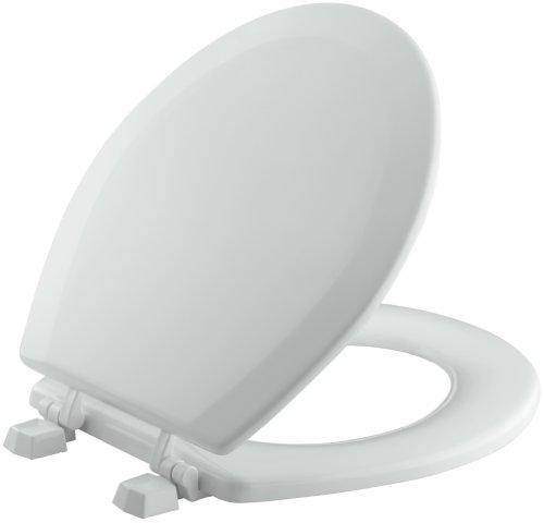 KOHLER K-4716-T-95 Triko Round-front Molded-Wood Toilet Seat, Ice Grey (Toilet Seats Gray)