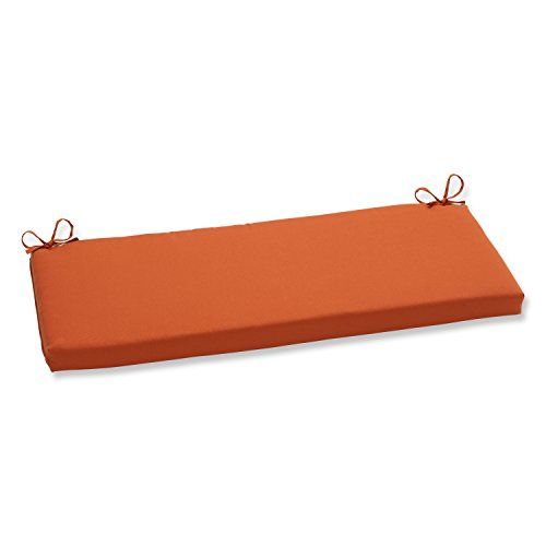 Pillow Perfect Indoor/Outdoor Cinnabar Bench Cushion, Burnt Orange (Sunbrella Bench Cushion)