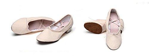 da Scarpe con tela adulti scarpe 40 maestro per 34 da morbide WX femminili ballerine e ginnastica pink per scarpe XW Flesh suole donna di 5EqpYn