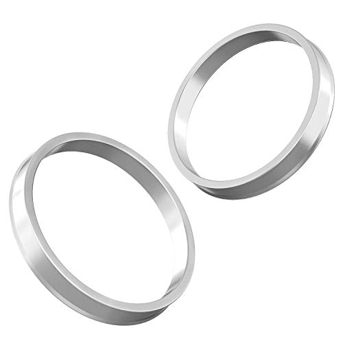 Hubcentric Rings (Pack of 4) - 64.1mm ID to 72.6mm OD - Silver Aluminum Hubrings - Only Fits 64.1mm Vehicle Hub & 72.6mm Wheel Centerbore - for many Honda Acura by StanceMagic (Image #4)
